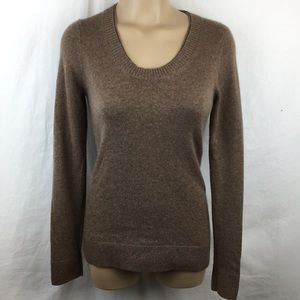 Peck & Peck Brown 100% Cashmere Sweater S